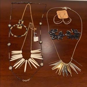 Edgey jewelry bundle. Mixed medals and spikes.